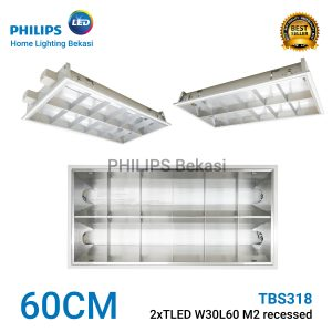 Philips TBS318 2xTLED W30L60 M2 recessed